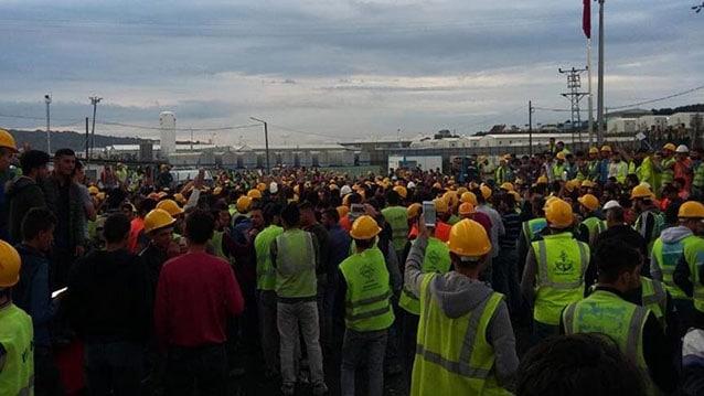 3. havalimanı inşaatında olaylı gün