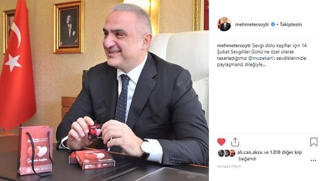 Bakan Ersoy 'Aşk'la tanıttı