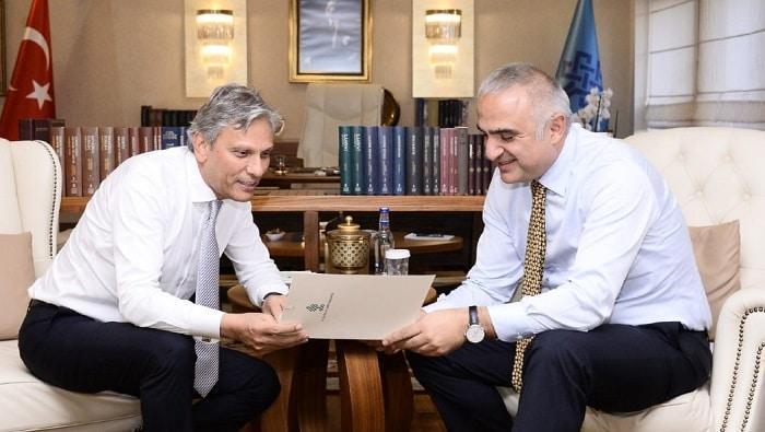 Bakan Ersoy ve TÜRSAB Başkanı Bağlıkaya sektörel gelişmeleri görüştü