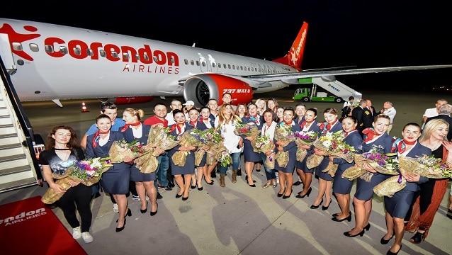 Türkiye'nin ilk Boeing 737 MAX 8'i Antalya'ya indi!