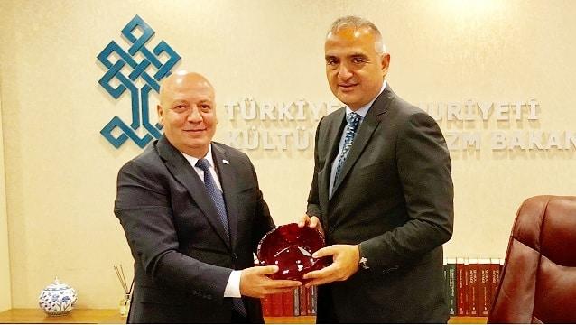 TUROYD Kültür ve Turizm Bakanı Mehmet Ersoy'u ziyaret etti