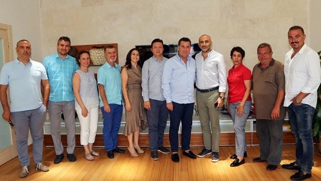 TÜRSAB Bodrum YTK'nın yeni yönetiminden Başkan Kocadon'a ziyaret