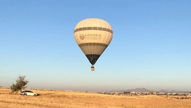 Ulubey Kanyonları'nda ilk balon uçuşu yapıldı