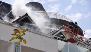 4 yıldızlı otelde korkutan yangın!
