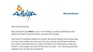 Antalyadan 23,5 milyon turiste mektup
