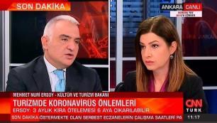 Bakan Ersoy canlı yayında sektöre verecekleri destekleri açıkladı…