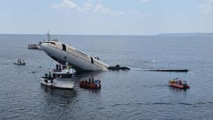 Edirne'de Airbus A330 uçağı denize batırıldı