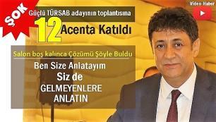 Hasan Erdem Antalyada hüsrana uğradı. Seçim toplantısına 12 acenta katıldı