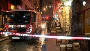 İstiklal Caddesinde otel yangını