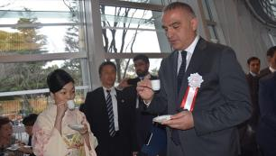 Japon prensese kahve ve baklava ikram etti