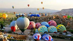 Kapadokyada aylar sonraki ilk balon turuna rüzgar engeli!