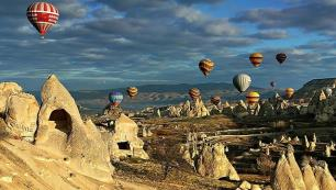 Kapadokyada siluet ayarı