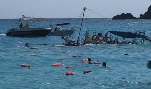 Kıyıya 15 metre kala batan tur teknesinden acı haber!