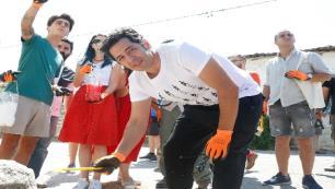 İyi niyet elçisi ünlü oyuncu Troya Kültür Rotasını ziyaret etti