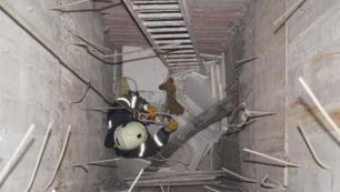 Otel inşaatında feci kaza