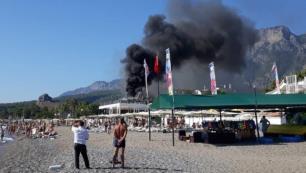 Otel restoranında korkutan yangın!