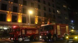 Şişli'de otel boşalttıran yangın!