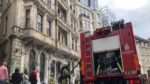 Tarihi otelde yangın paniği!