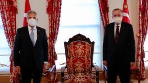 Cumhurbaşkanı Erdoğan, TÜRSAB Başkanı Firuz Bağlıkayayı kabul etti