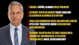 TÜRSAB Başkanı Bağlıkaya: Otellere transfer hakkı verilmesini kabul etmiyoruz