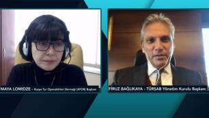TÜRSAB Başkanı Bağlıkaya, Maya Lomidze ile Rusya pazarını konuştu