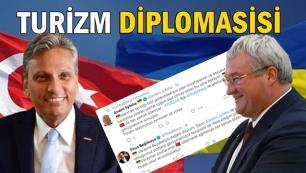 TÜRSAB Başkanı Firuz Bağlıkayadan turizm diplomasisi… Katyuşa krizi tatlıya bağlandı