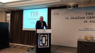 TYD Başkanı Murat Ersoyun konuşmasının sonu sert bitti
